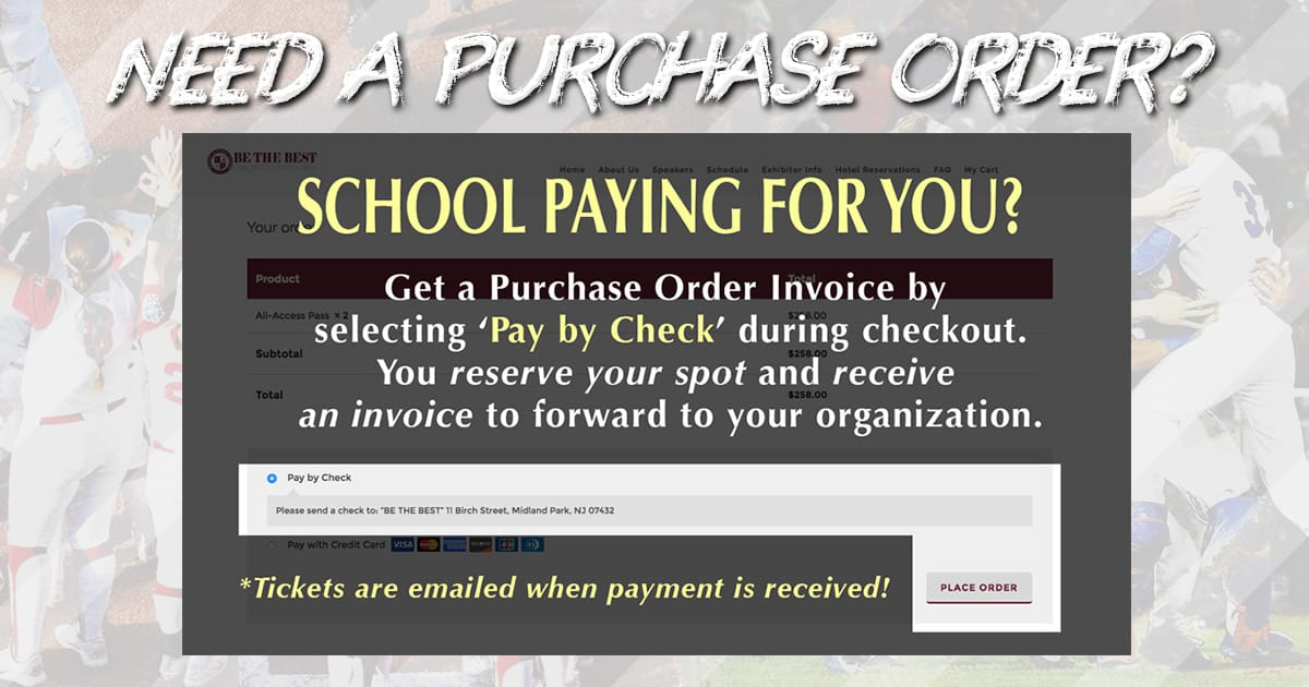 Need a Purchase Order Invoice For Your School?